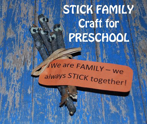 Stick Family Craft for Preschool