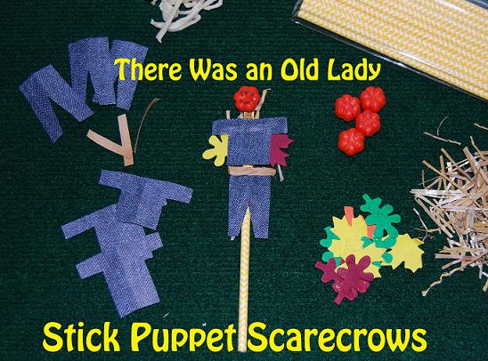 Sensory Stick Puppet Scarecrows