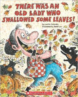 There Was An Old Lady Who Swallowed Some Leaves: Sequencing Cards and PowerPoint