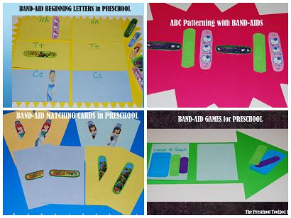 Doctor or Nurse Community Helper Center: Band-Aid Games for #PlayfulPreschool