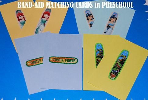 Bandaid Matching Cards for Preschool