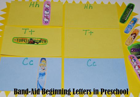 Band-Aid Beginning Letters