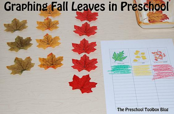 Graphing Fall Leaves in Preschool