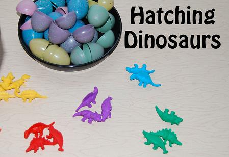 Dinosaur Theme for Preschool:  Hatching DINO Eggs – Early Math & Science.