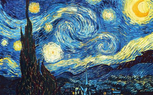 STARRY NIGHT by VINCENT VAN GOGH Photo Credit:  http://www.wikiart.org/en/vincent-van-gogh/the-starry-night-1889
