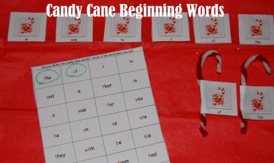 Candy Cane Beginning Words