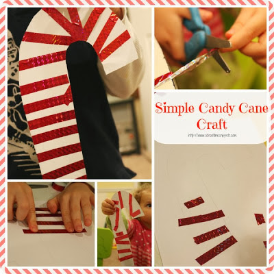 Candy Cane Fine Motor Craft