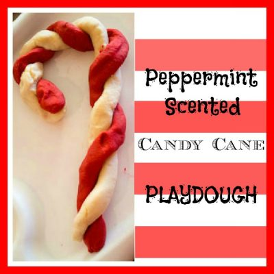 Candy Cane Peppermint Playdough