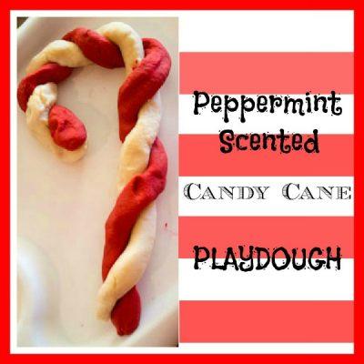 Candy Cane Peppermint Playdough