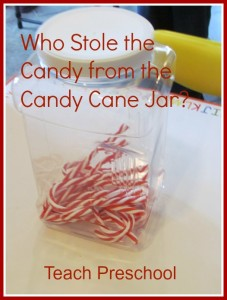 Candy Cane Circle Time Game