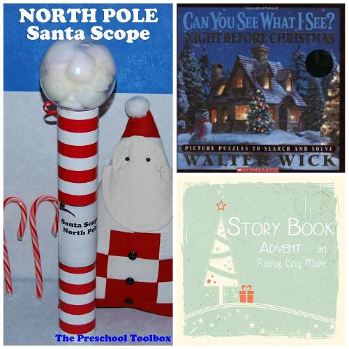 Story Book Advent: North Pole Santa SPY Scope Craft for Kids!