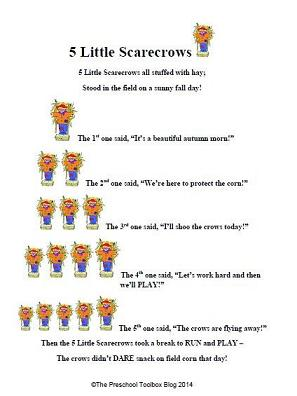 5 Little Scarecrows - an original counting poem for ...