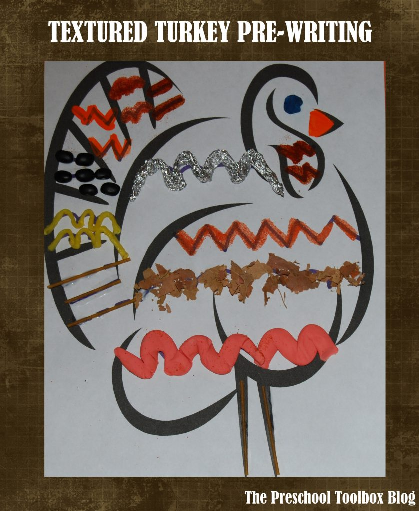 Textured Turkey Feathers Pre-Writing Activity