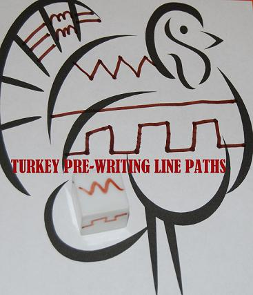 Turkey Pre-Writing Activity for Preschool