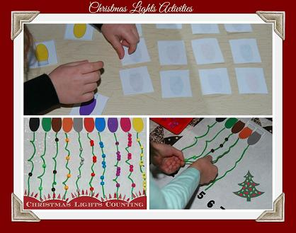 Christmas Lights Activities for Preschool