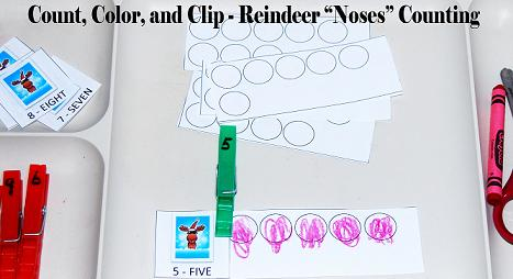 Reindeer Theme Math Mats for Preschool