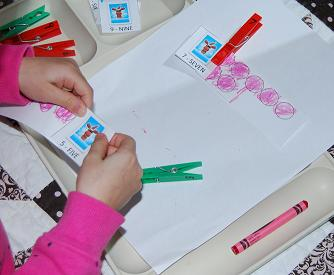 Count, Color, and Clip Reindeer Math Activity for Preschool