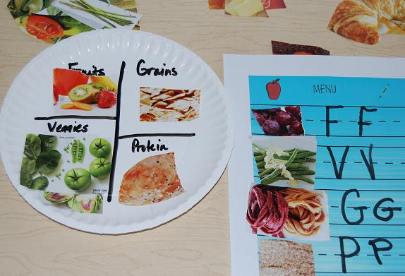 Healthy food habits in preschool sorting and a paper for Food crafts for preschoolers