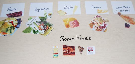 Healthy Food Sorting Game for Preschool