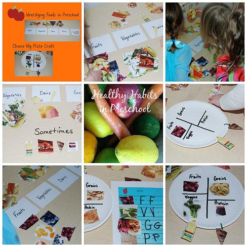 healthy food habits in preschool sorting and a paper plate project  healthy habits with foods in preschool