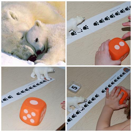 Polar Bear Math Game for Preschool
