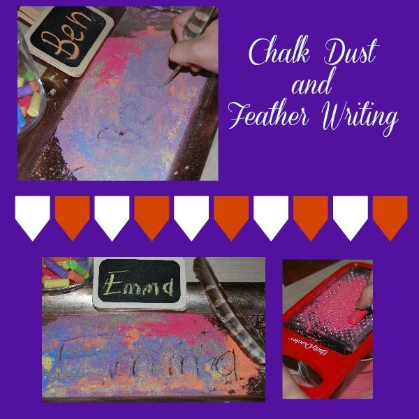 Chalk Dust and Feather Writing: Learning Names in Preschool