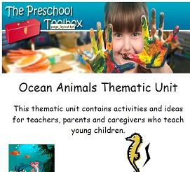 Ocean Animals Thematic Unit from The Preschool Toolbox