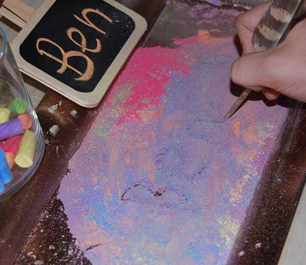 Chalk and Feather Writing for Playful ECE 008