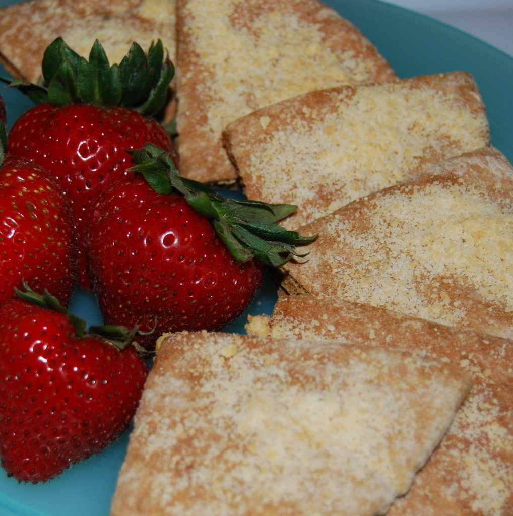 Lemon Essential Oil and Parmesan Cheese Pita Crisps