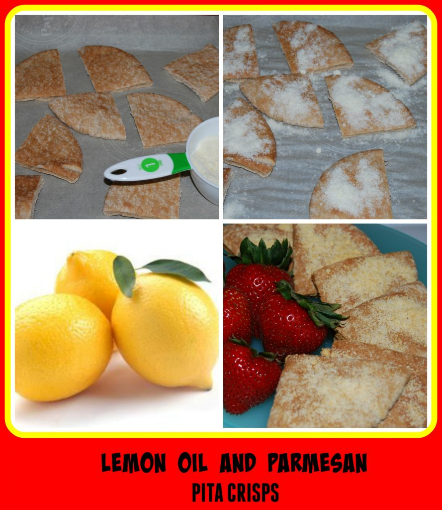 Lemon Essential Oil and Parmesan Pita Crisps