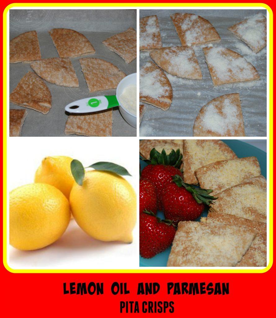 Lemon Essential Oil and Parmesan Pita Crisps
