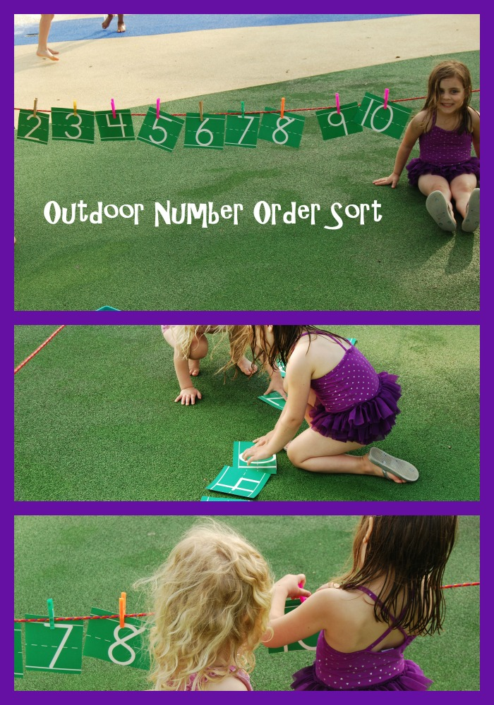 Outdoor Number Order Sorting for Preschool