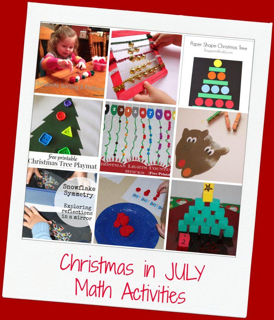Christmas In JULY Math Activities For Preschool