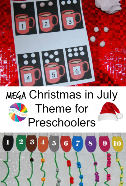 MEGA Christmas in July Activities for Preschoolers!