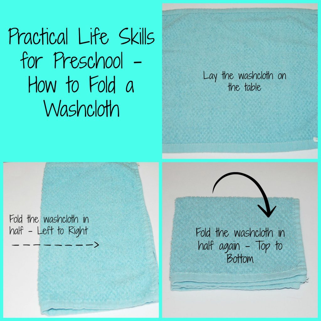 Practical Life Skills for Preschool_Folding a Washcloth