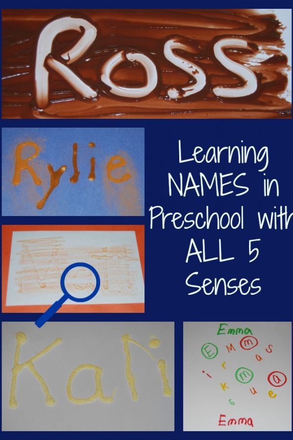 Learning Names in Preschool with ALL 5 Senses!
