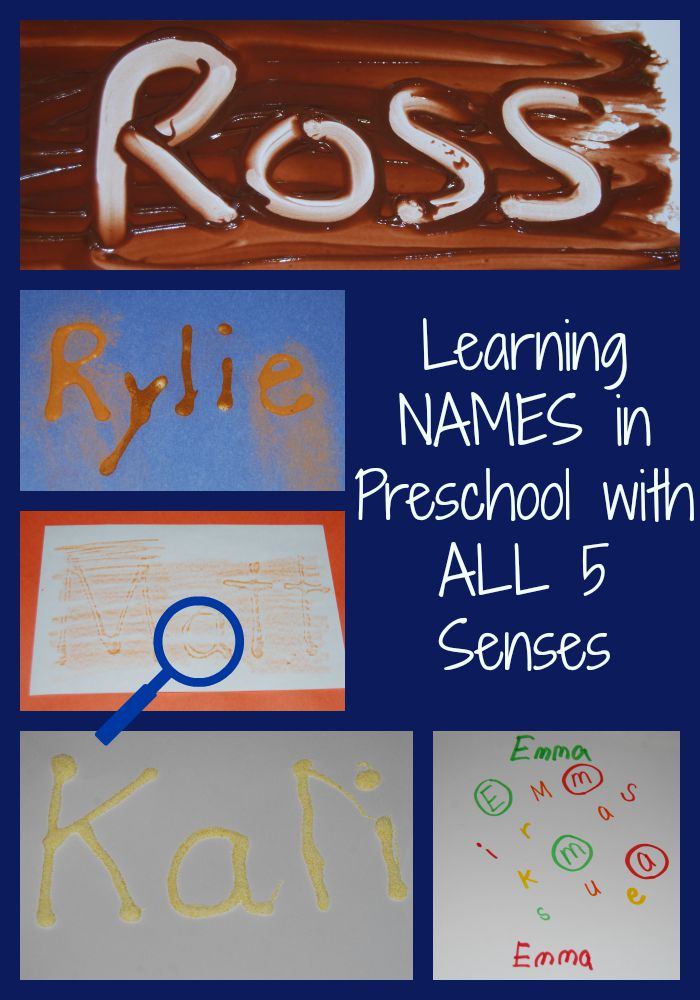 Sensory Names in Preschool with ALL 5 Senses