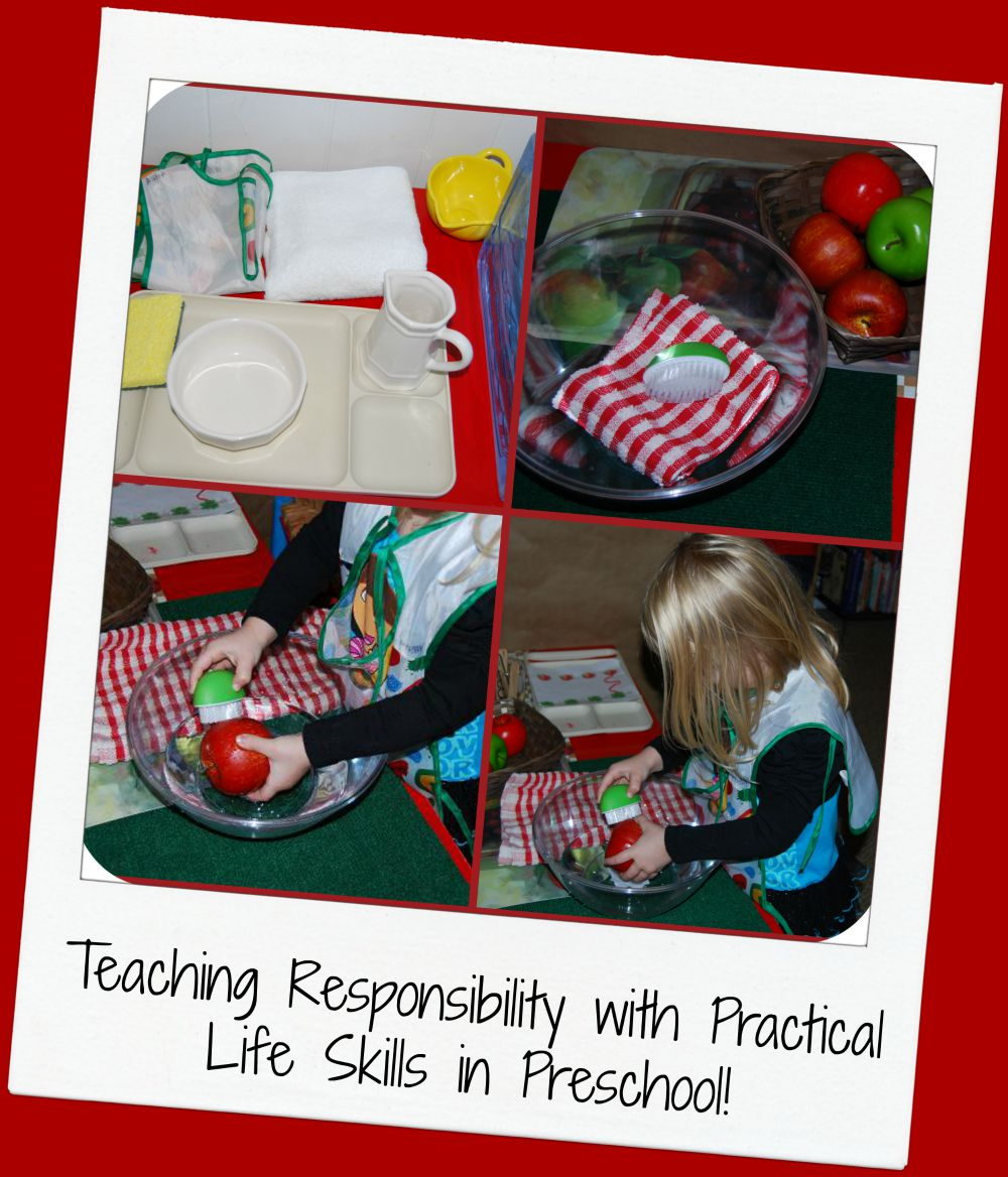 Teaching Responsibility to Preschoolers with Practical Life Skills