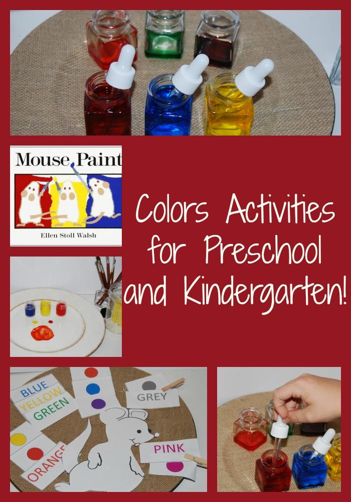 Colors Activities for Preschool and Kindergarten