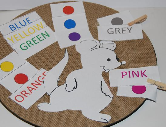 Colors and Color Words Free Matching Games for Preschool and Kindergarten