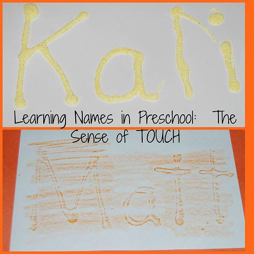 Sensory Names in Preschool-TheSense of Touch