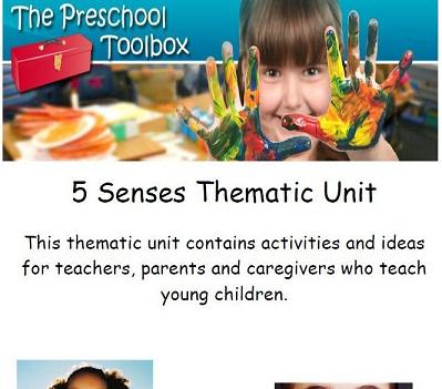 The-5-Senses Theme for Preschool, Home Preschool, or Childcare