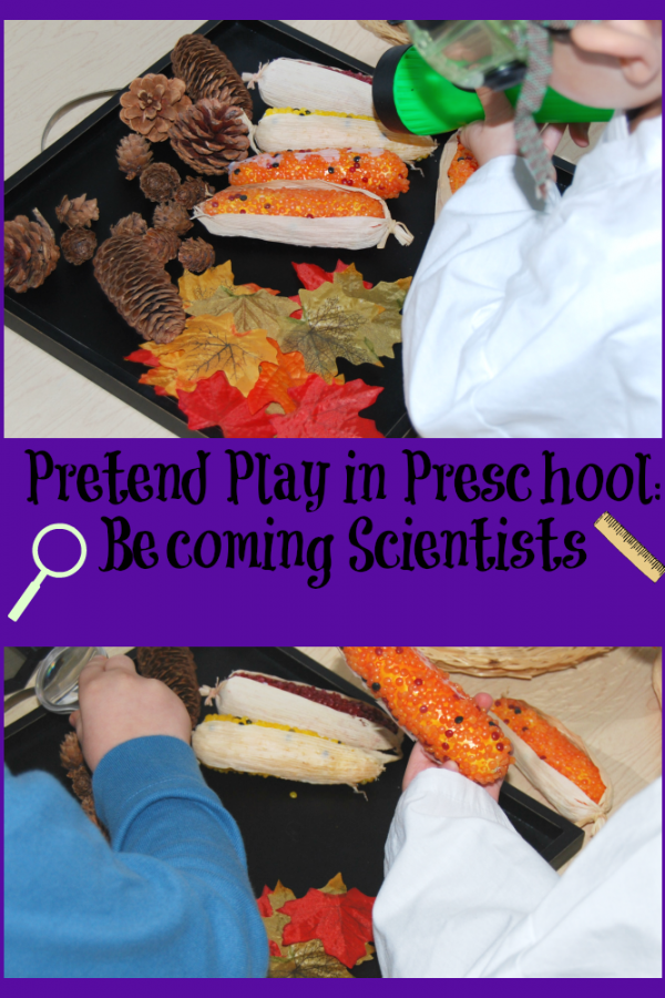 Pretend Play in Preschool:  How to Be a Scientist!
