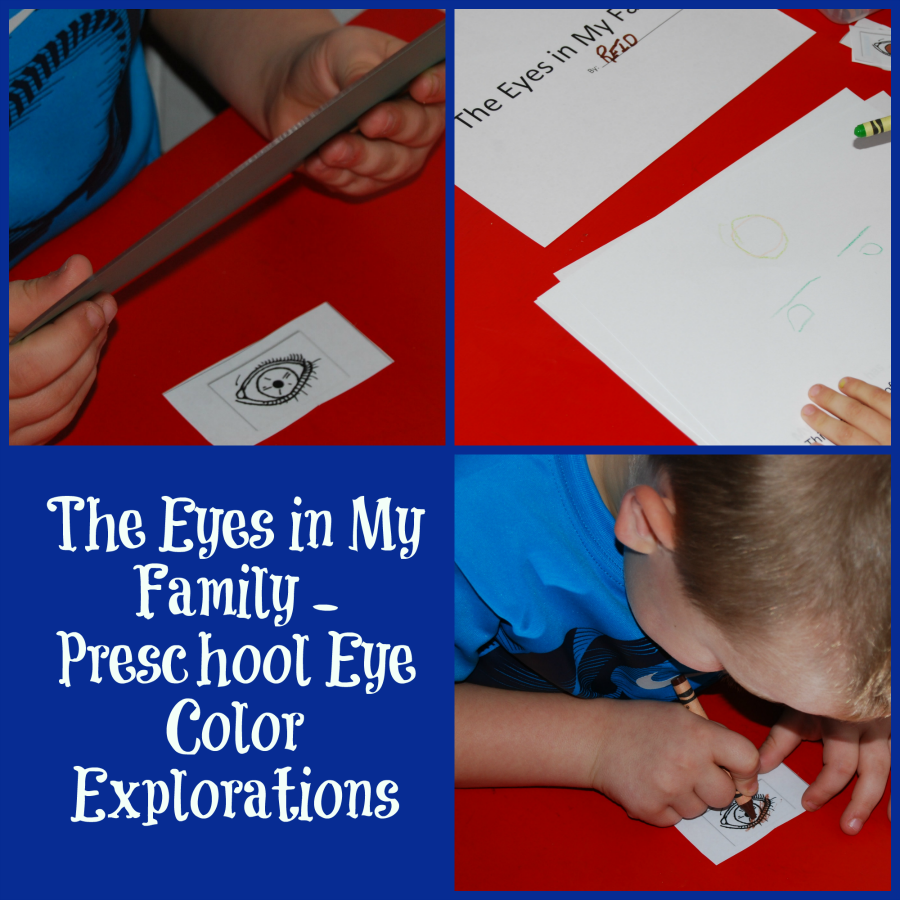 The Eyes in My Family Printable Book for Preschool