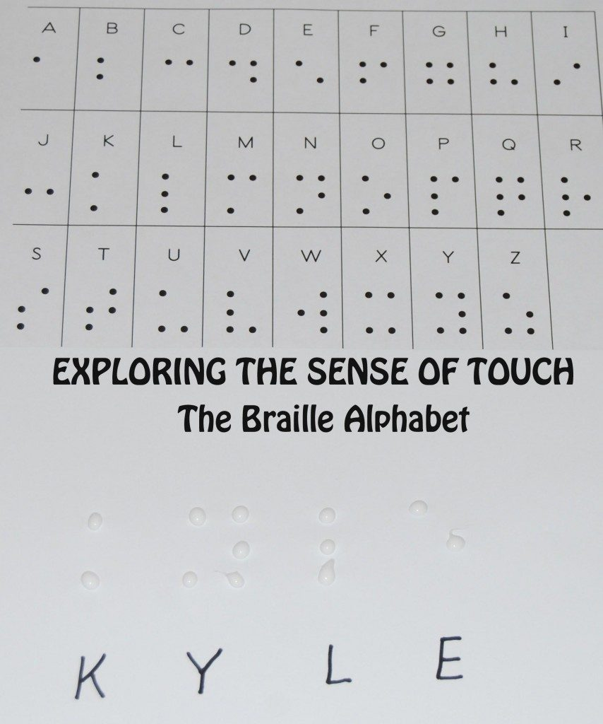 Exploring the Sense of Touch with Braille Alphabet Names in Preschool