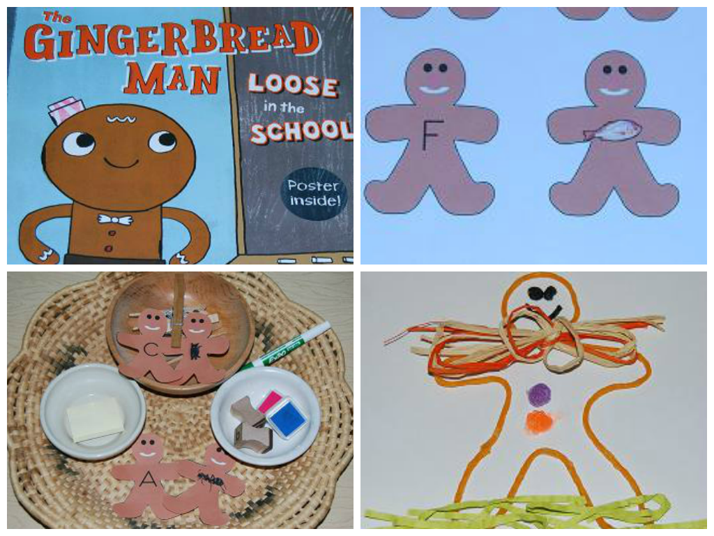 Gingerbread man rhyme and candy house craft for for Gingerbread crafts for kindergarten