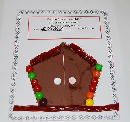 Gingerbread Rhyming Chant and Candy House for Preschool