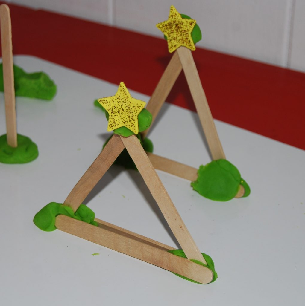 Christmas Tree STEM Activity for Preschool