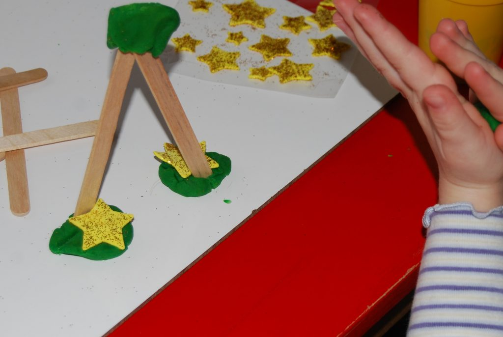 Evergreen Tree STEM Building Challenge for Preschoolers