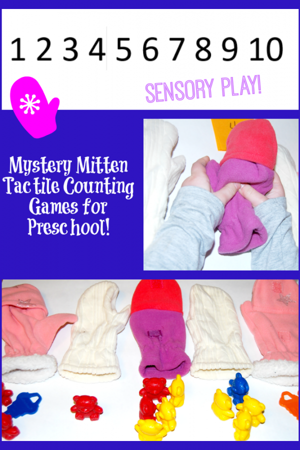 Mystery Mitten Tactile Counting Game for Preschool!